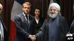 فرانسیسی صدر کا کہنا ہے کہ خطے کی سکیورٹی کے لیے ضروری ہے کہ بات چیت کے عمل کا آغاز کیا جائے۔