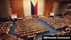 Sidang parleman Filipina di Constitution Hills, Quezon (Foto: dok). UNPFA mendesak Filipina untuk meloloskan RUU Keluarga Berencana di negara itu.