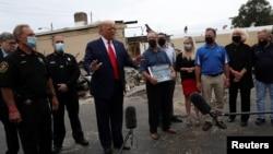 2020年9月1日特朗普訪問美國威斯康星州基諾沙