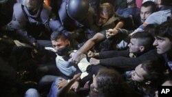 Sukob policije i demonstranata u Madridu