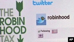 The organizers call it the Robin Hood Tax.Information is on Twitter and Facebook