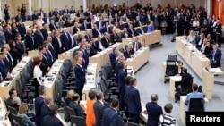 奧地利議會5月27日在維也納舉行不信任投票,迫使總理下台。