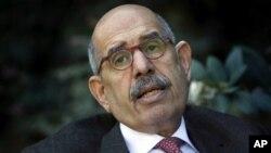 Mohammed El-Baradei diambil sumpahnya hari Minggu (14/7) di hadapan Presiden sementara Adly Mansour (foto: dok).