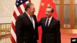 美國國務卿蓬佩奧14號與中國外交部長王毅會談。