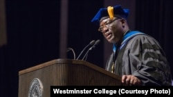 FILE - Benjamin Ola Akande is president of Westminster College in Missouri.