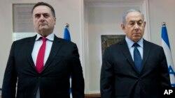 «اسرائیل کاتص» (چپ) وزیر خارجه اسرائیل