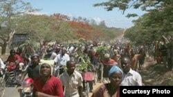 Maandamano ya wakazi wa Mtwara katika suala la uchimbaji gesi Mkoani humo