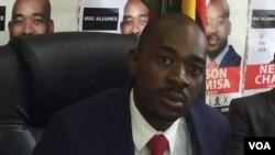 UMnu. Nelson Chamisa umkhokheli womanyano weMDC Alliance.