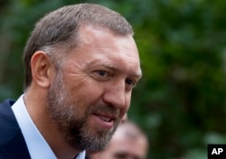 FILE - Russian metals magnate Oleg Deripaska is shown in Moscow, Russia, July 2, 2015.