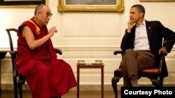 Далай-лама и президент Обама. Вашингтон, округ Колумбия. 16 июля 2011 г.