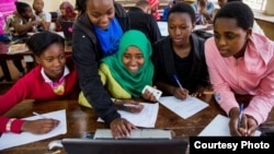 FILE - Students participate in a technology class in Nairobi, Kenya.