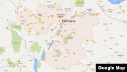 La région de l'Oromia, en Ethiopie.