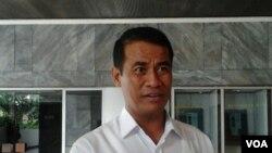 Menteri Pertanian Amran Sulaiman di Jakarta (3/4). (VOA/Iris Gera)