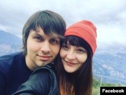 Фото: Затриманий Ягор Марцінович разом зі своєю дружиною Адарією