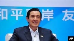 10月17号台湾总统马英九在台北的一次记者会上谈到两岸关系