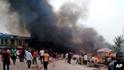 尼日利亞喬斯市一個公車站發生爆炸,狼煙滾滾
