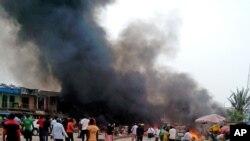 5月20日尼日利亚中部城市乔斯爆炸现场