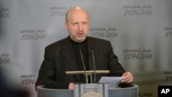 Penjabat Presiden Ukraina Oleksandr Turchynov. (AP/Andrew Kravchenko)
