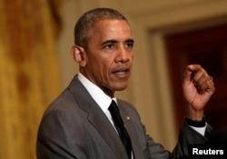 U.S. President Barack Obama at the White House in Washington, July 15, 2016.