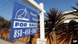 2012年6月13日美国加州圣迭戈住房出售标牌
