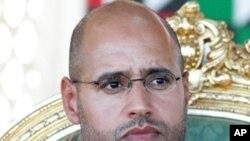 ທ້າວ Seif al-Islam Gadhafi ລູກຊາຍຄົນນຶ່ງຂອງມີ້ລາງຜູ້ນໍາ ກາດດາຟີ ແຫ່ງລີເບຍ ທີ່ຖືກຈັບໄດ້ໃນວັນເສົາມື້ນີ້, ທີ 19 ພະຈິກ 2011.