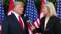 သမၼတ Trump နဲ႔ VOA အတြက္ သီးသန္႔ေတြ႔ဆုံေမးျမန္းခ်က္