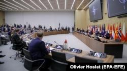 На конференции министров иностранных дел стран-членов НАТО в Брюсселе. 24 марта 2021.