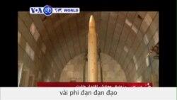 Iran phóng thử nghiệm phi đạn (VOA6)