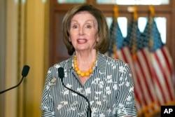 House Speaker Nancy Pelosi of California speaks at the U.S. Capitol in Washington, June 28, 2021.