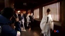 2014-10-17 美國之音視頻新聞: 靖國神社舉行秋祭 安倍供奉祭品