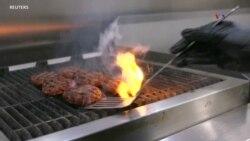 Hamburguesa vegetariana con sabor a carne