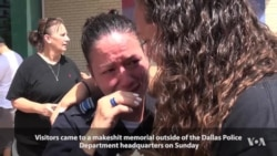 Dallas Memorial Draws Crowds