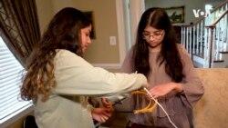 VOA英语视频: 侯赛因姐妹为医护人员打造面罩