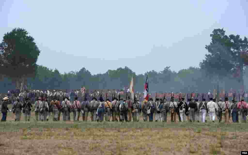 Атакующие шеренги в битве при Булл-Ране