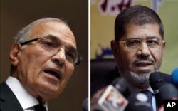 Ahmed Shafiq (à g.) a félicité Mohamed Morsi pour sa victoire au second tour des 16 et 17 juin