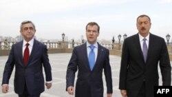 Серж Саргсян, Дмитрий Медведев, Ильхам Алиев