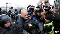 Задержания у Останкинского телецентра