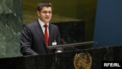 Vuk Jeremić u skupštini UN-a