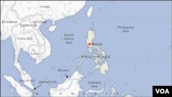 Phanfone menghantam ujung selatan pulauSamar, Filipina dengan anginberkecepatan 150 kilometer per jam, Selasa (24/12).