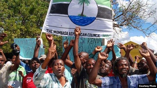 Wanachama wa kundi la MRC wakiandamana Mombasa siku za nyuma.