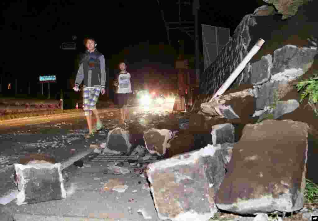 6.2 شدتسے آنے والا یہ زلزلہ کیوشو جزیرے پر کماموٹو پریفیکچر کے مشرق میں آیا۔