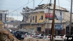 The Naso-Hbalod hotel was destroyed by a bomb attack in Mogadishu, Somalia, June 25, 2016.