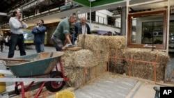 Eco friendly straw bale home