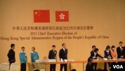 今年香港特首選舉仍沿用上屆2012年的1,200人選委會負責提名及投票。(美國之音湯惠芸)