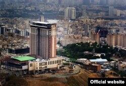 محل واقع شدن هتل اسپیناس پالاس(عکس مربوط به زمان احداث است)