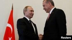 Владимир Путин и Реджеп Тайип Эрдоган. Санкт-Петербург, Россия. 9 августа 2016 г.