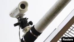 A closed circuit television camera (CCTV)