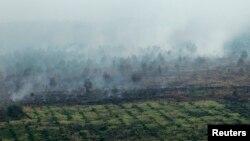 Asap akibat kebakaran hutan di Propinsi Riau (Foto: dok).