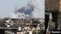 10月12日的敘利亞北部城市拉卡。