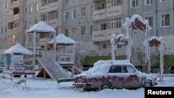 آرشیف: موتر یخ بسته در شمالشرق روسیه